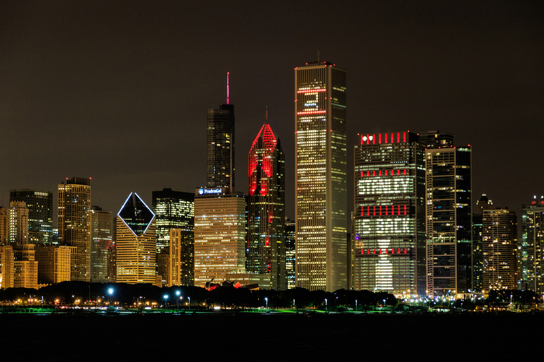 Chicago Skyline 2015 Stanley Cup Champs