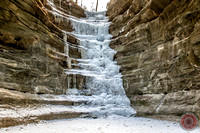 French Canon Frozen Waterfall - Starved Rock State Park