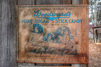 Woodward Candy Company sign at Stately Oaks Plantation in Jonesboro, Georgia