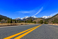 Fall River Road with Mountain Background