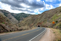 US 6 Leading into Tunnel # 1 in Golden, Colorado