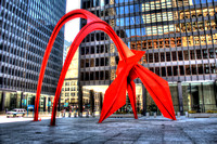 Flamingo Sculpture in Downtown Chicago