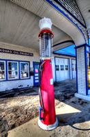 Old Gas Pump - Standard Oil Station in Odell, IL Along Route 66