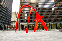Alexander Calder Flamingo Sculpture in Chicago