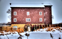 Franklin Grove Grist Mill Winter Snow - Color