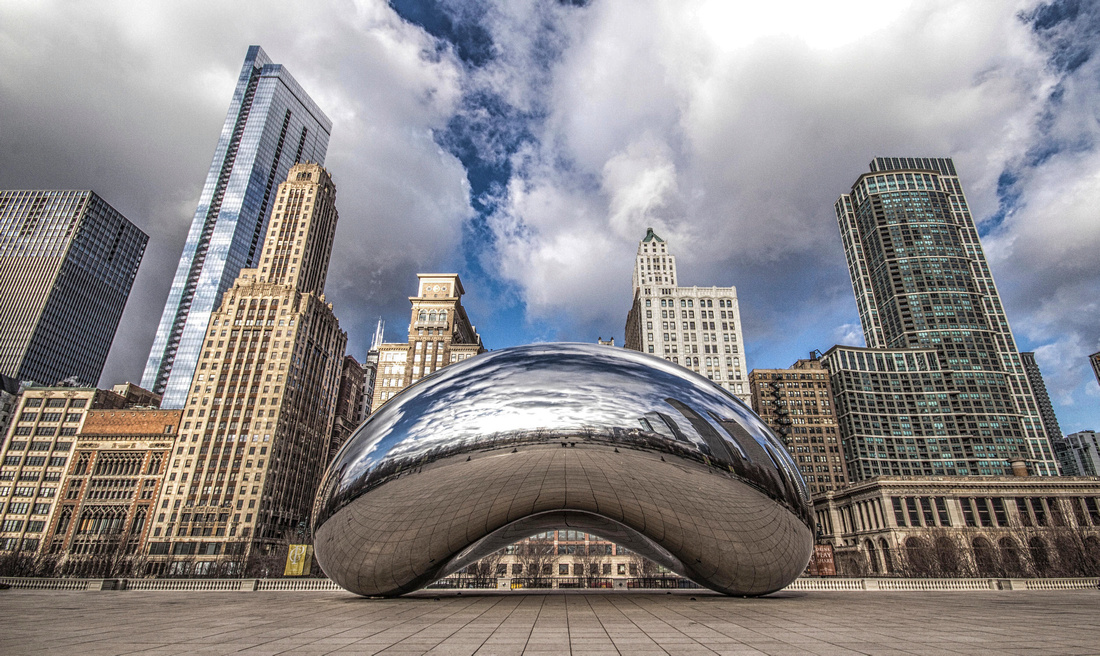 Chicago Millennium Park Bean Overlooking The City