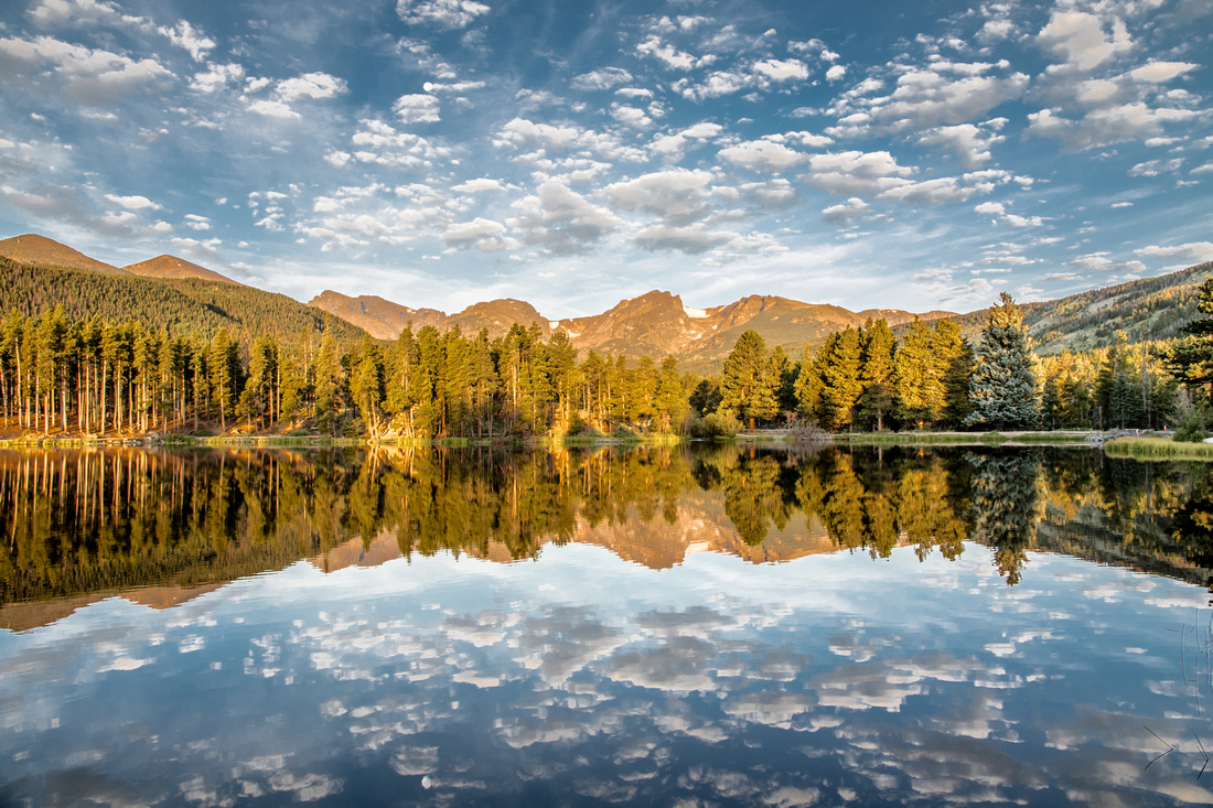 Sprague Lake in the Rocky Mountain National Park