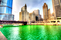 2014 Dyeing of the Chicago River for St. Patrick's Day